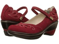 Jambu Bombay Deep Red Tan Women's Wedge Shoes