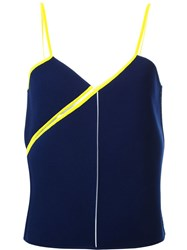 Courra Ges Twisted Strap Top Blue