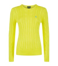 Polo Ralph Lauren Julianna Cable Knit Sweater Female Yellow