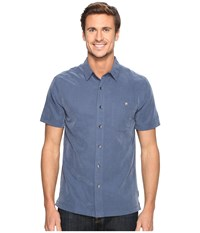 Royal Robbins Mojave Desert Pucker S S Collins Blue Men's Short Sleeve Button Up
