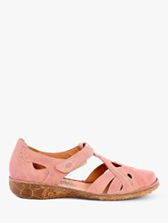 Josef Seibel Rosalie 29 Two Part T Bar Casual Shoes Rosa Leather