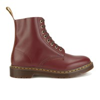 Dr. Martens Marten's Men's Archive Pascal 8 Eye Leather Boots Oxblood Vintage Smooth