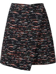 Grey Jason Wu Tweed A Line Wrap Skirt Black