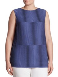 Lafayette 148 New York Ombre Stitch Tank Top