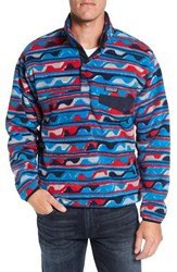 Patagonia Men's 'Synchilla Snap T' Fleece Pullover Delta Navy Blue