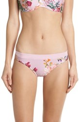 Ted Baker London Serenity Floral Bikini Bottoms Pale Pink