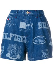 Tommy Hilfiger Logo Shorts Blue