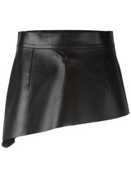 Celine High Shine Short Skirt Black