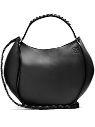 Loewe Fortune Leather Shoulder Bag Black