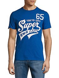 Superdry High Number Letter Print Cotton Tee Voltage