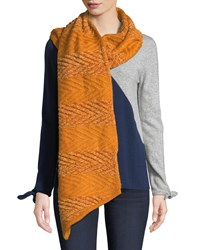 Rebecca Minkoff Blocked Yarn Muffler Rust
