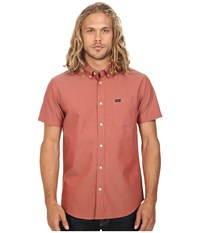 Rvca That'll Do Oxford Short Sleeve Woven Pompei Red Men's Short Sleeve Button Up