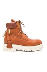 Buscemi Leather Site Boots In Brown