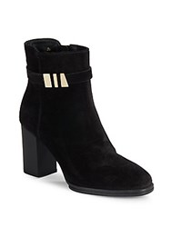 Tod's Round Toe Suede Boots Black