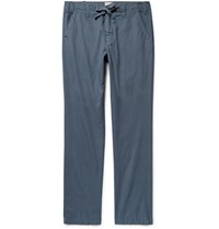 Hartford Troy Slim Fit Cotton Drawstring Trousers Anthracite