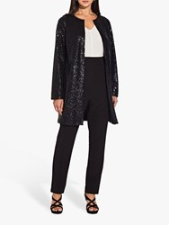 Adrianna Papell All Over Sequin Coat Black