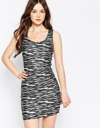 Jasmine Dress In Metallic Zebra Print Black