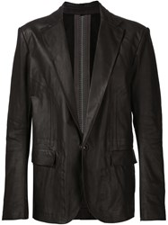 Isaac Sellam Experience Single Button Blazer Black