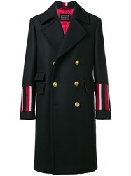 Tommy Hilfiger Double Breasted Coat Blue