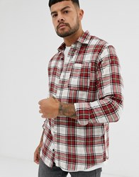 Jack And Jones Flannel Check Shirt In Red