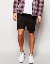 New Look Twill Shorts Black