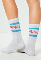 Missguided White Fml Striped Ankle Socks Multi