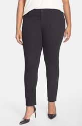 Plus Size Women's Wit And Wisdom 'Super Smooth' Stretch Skinny Jeans Black Nordstrom Exclusive
