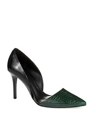 Aerin Faden Embossed Pumps Spruce Black