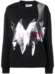 Versus Logo Sequin Sweatshirt Black