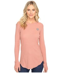 Converse Thermal Thumbhole Long Sleeve Tee Pink Blush Women's T Shirt