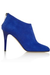 Jimmy Choo Mendez Suede Ankle Boots Bright Blue