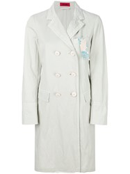 The Gigi Double Breasted Straight Coat White