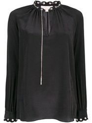 Michael Michael Kors Chain Embellished Blouse Black