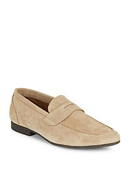 Saks Fifth Avenue Luca Solid Leather Loafers Tan