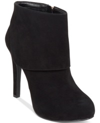 Jessica Simpson Addey Cuffed Dress Booties Women's Shoes Black Suede