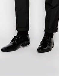 H By Hudson Dawlish Patent Derby Shoes Black
