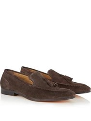 Kurt Geiger London Coleman Suede Loafer Shoes Brown