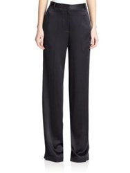 Jason Wu Satin Wide Leg Pants Black