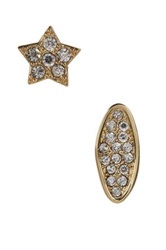 Ariella Collection Pave Star Stud Earrings Set Of 2 Metallic