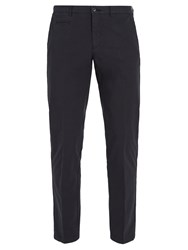 Altea Mid Rise Cotton Blend Chino Trousers Navy