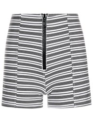 Lisa Marie Fernandez Black Striped Fitted Active Shorts Print