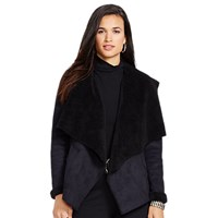 Lauren Ralph Lauren Ourea Faux Suede Waterfall Jacket Black
