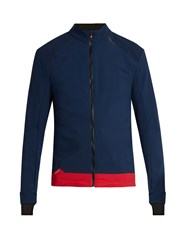 Soar Zip Through High Neck Performance Jacket Navy Multi