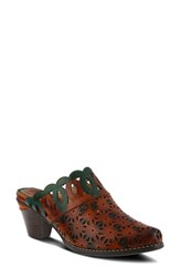 L'artiste Rima Mule Camel Leather