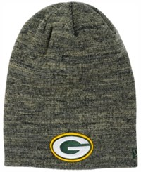 New Era Green Bay Packers Slouch It Knit Hat Heather Gray