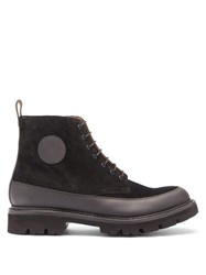 Grenson Anton Lace Up Suede Boots Black