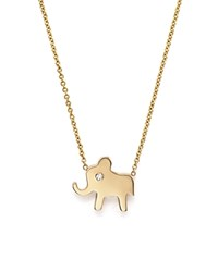 Zoe Chicco 14K Gold Elephant Necklace 16