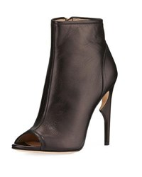Jerome C. Rousseau Notte High Peep Toe Bootie Black