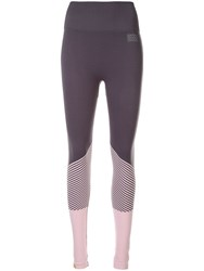 Monreal London Hi Tech Seamless Biker Leggings Purple