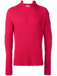 Christopher Shannon Chunky Rib Jumper Pink And Purple